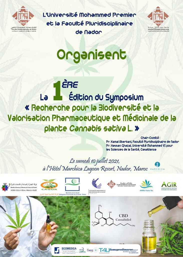 La 1ère édition du symposium: Recherche pour la Biodiversité et la Valorisation Pharmaceutique et Médicinale de la Plante Cannabis Sativa L