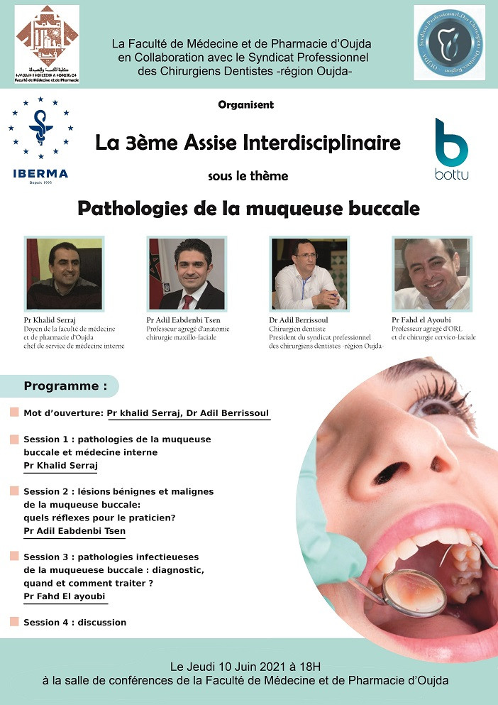 3ème Assise Interdisciplinaire : Pathologies de la muqueuse buccale