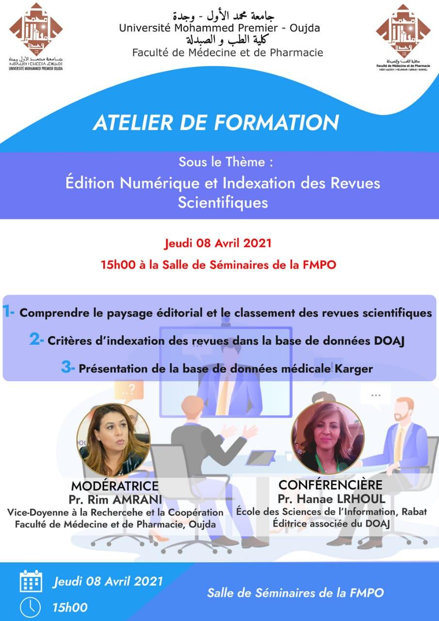 Atelier de Formation : Édition Numérique et Indexation des Revues Scientifiques